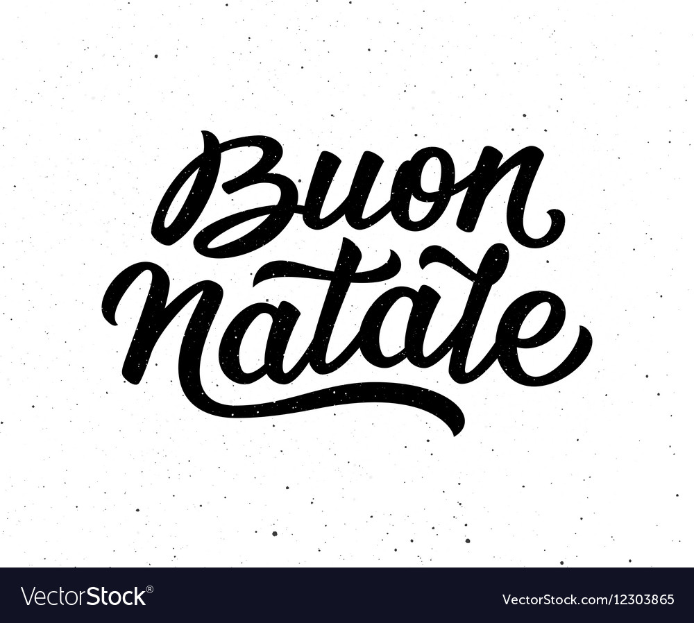 buon natale lettering merry christmas in italian vector image. Black Bedroom Furniture Sets. Home Design Ideas