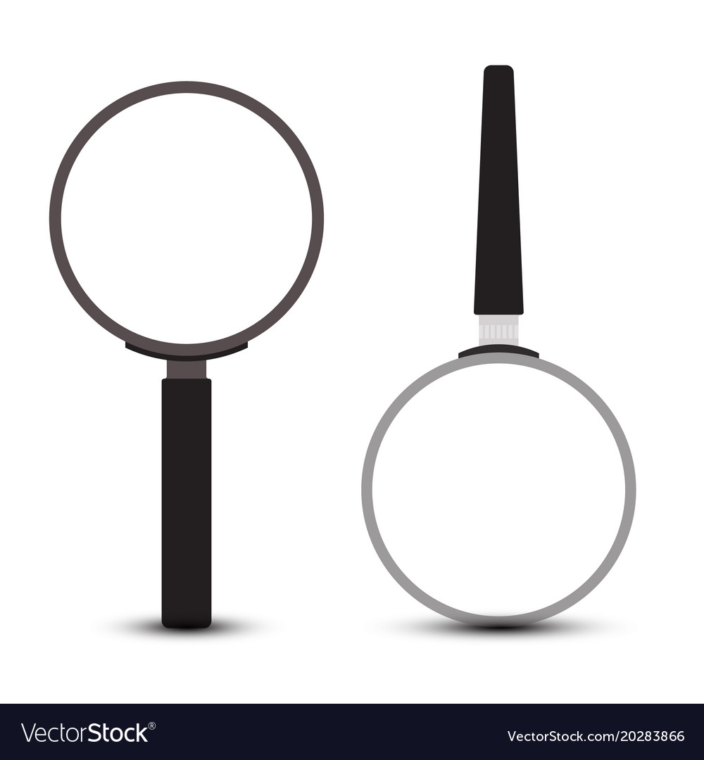 Magnifying glass icons set isolated on white vector image