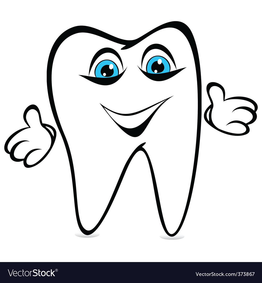 Tooth smiles vector image