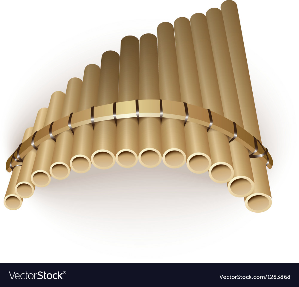 Pan flute Vector Image