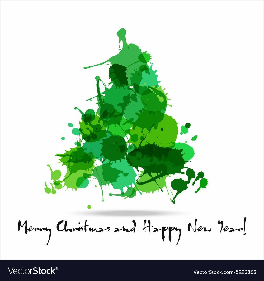 Tree blots christmas decoration vector image