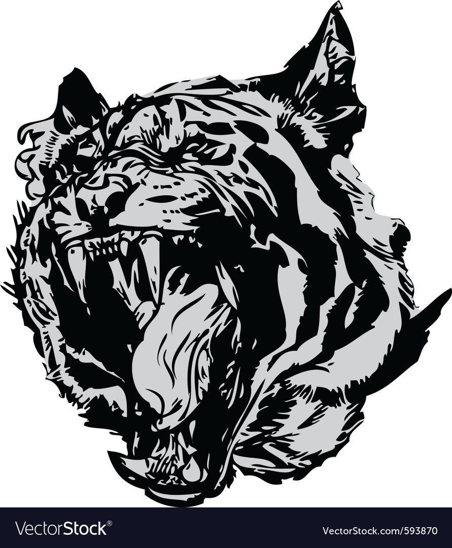 Abstract tiger vector image