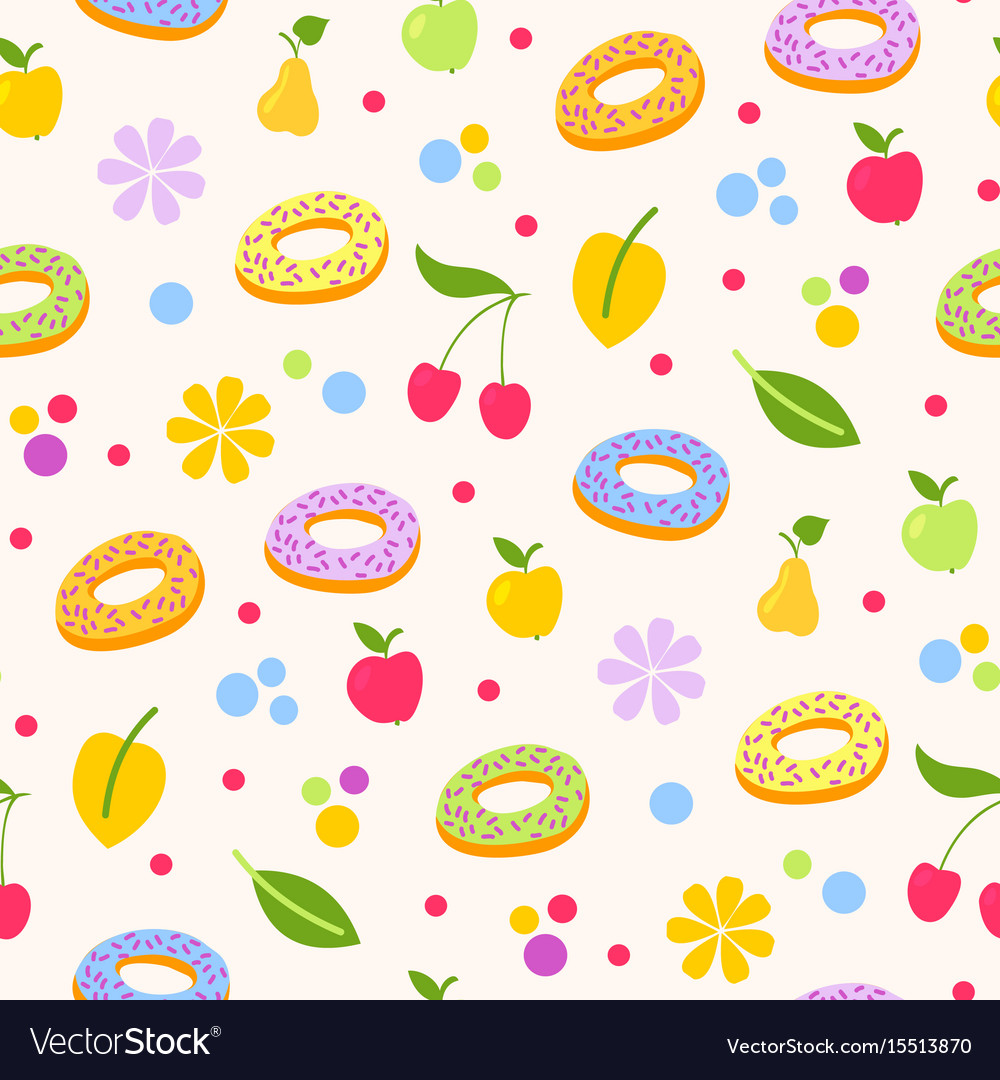 Donuts tasty coockie seeamless pattern vector image
