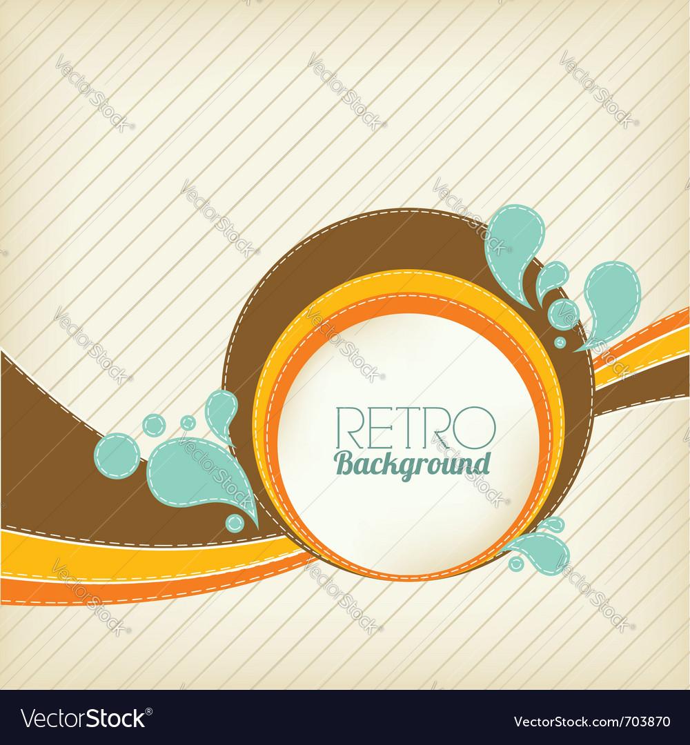Retro template vector image