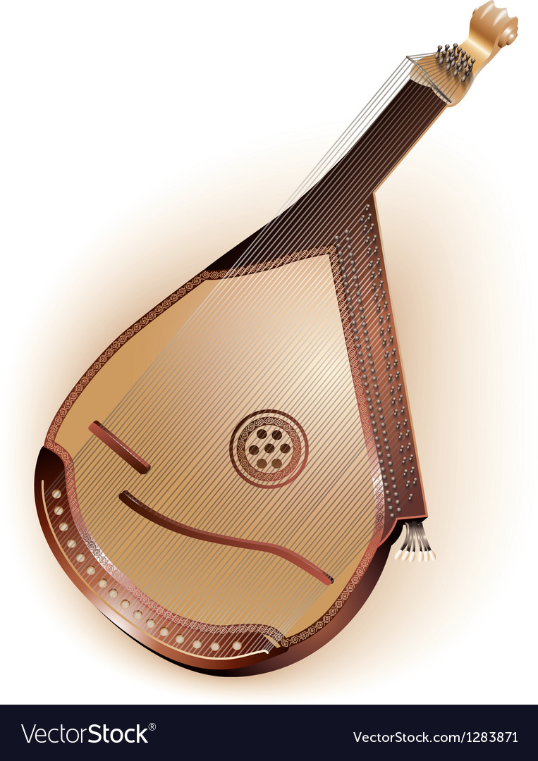 Traditional Ukrainian bandura vector image