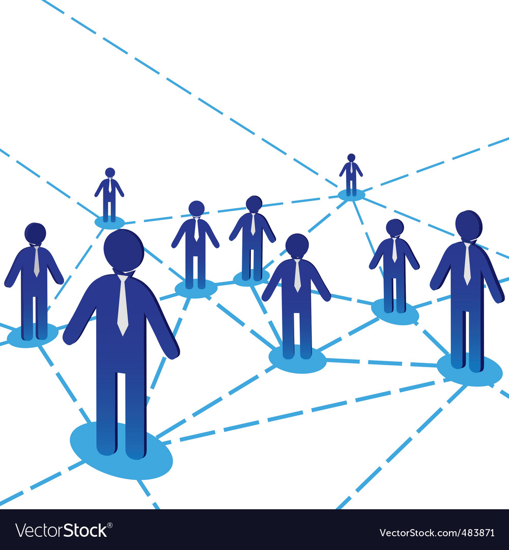 Business people diagram vector image