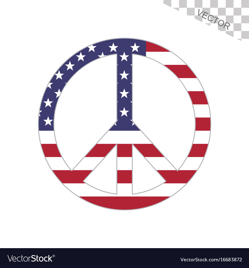 American flag peace sign royalty free vector image american flag peace sign vector image biocorpaavc