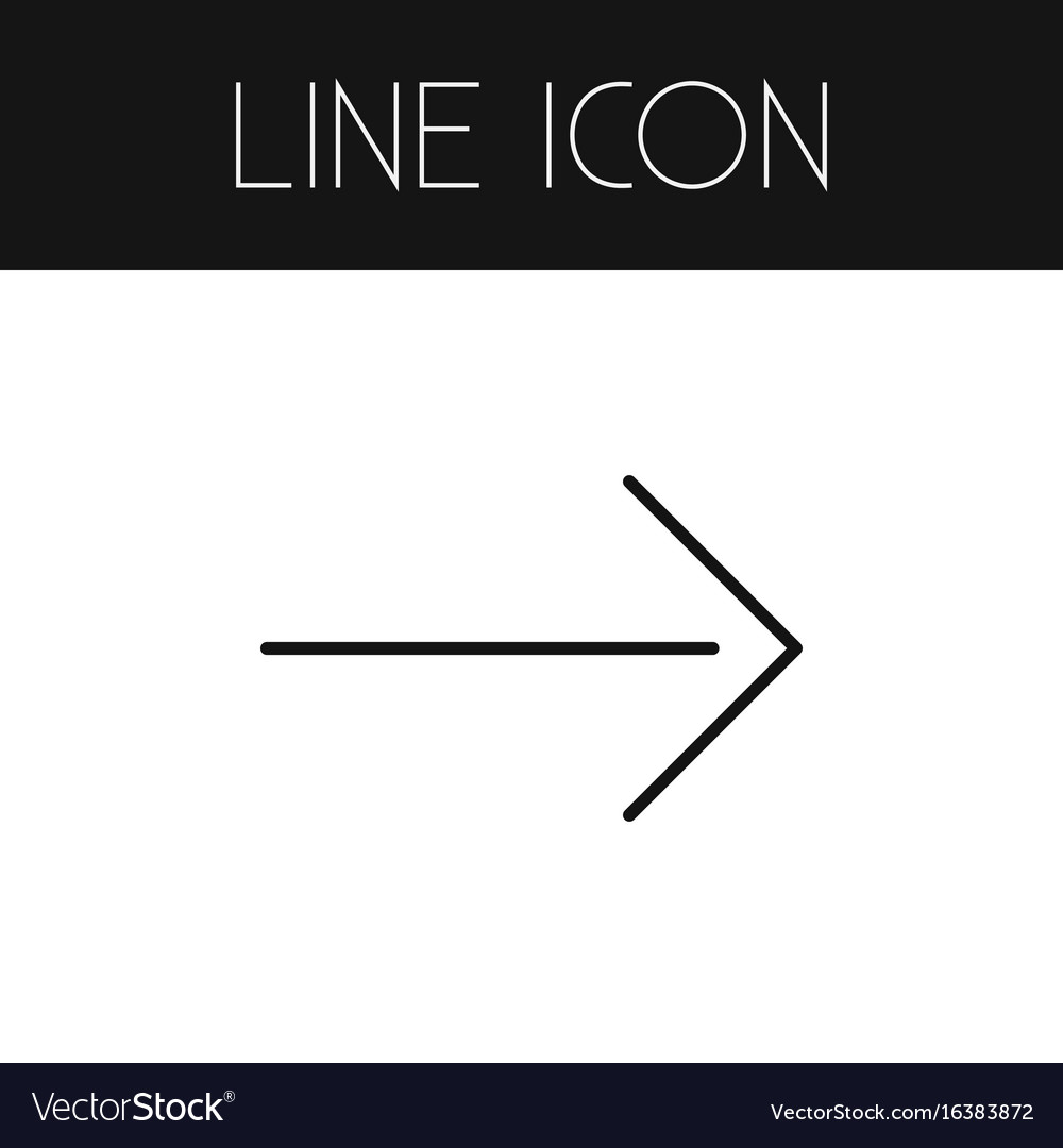 Isolated direction outline right element vector image