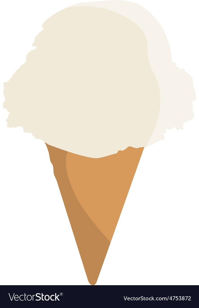 Vanilla ice cream vector image