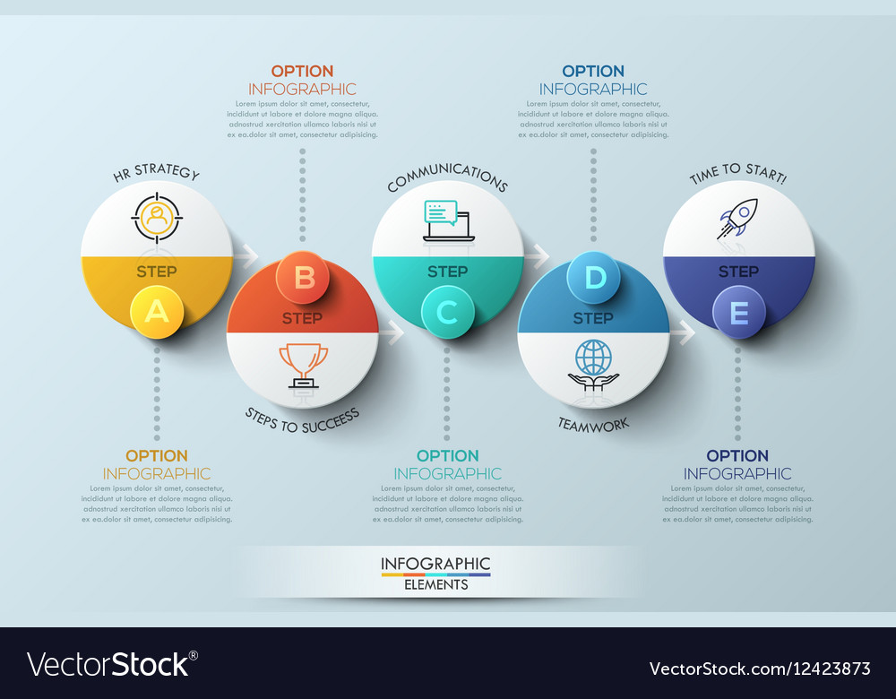 Infographic design template with circular elements vector image