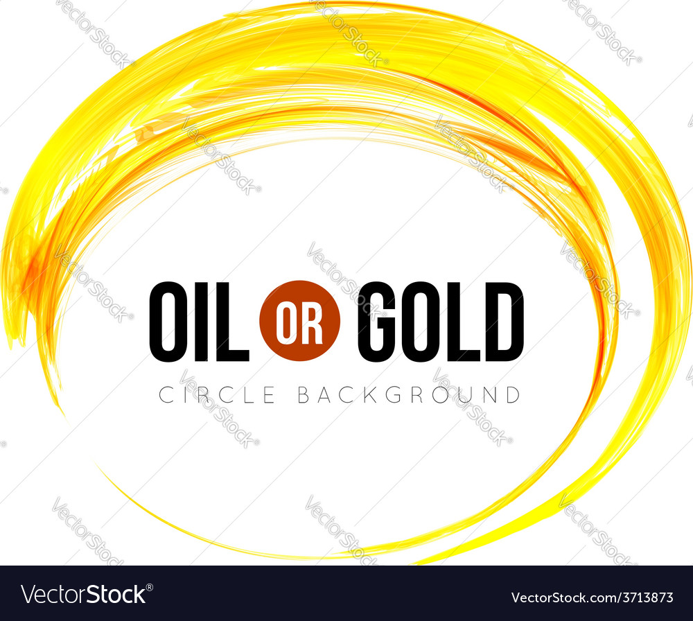 Oil or gold vector image