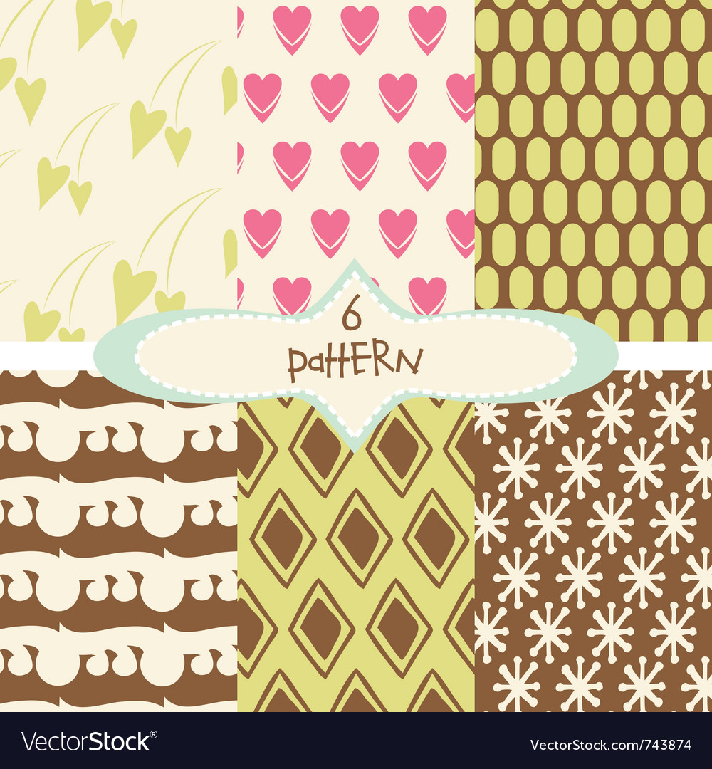 Vintage patterns vector image