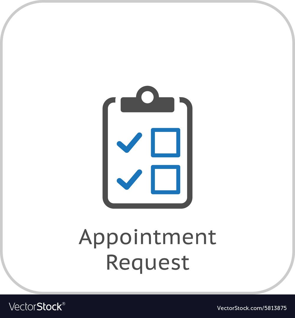 Appointment request and medical services icon vector image altavistaventures Choice Image