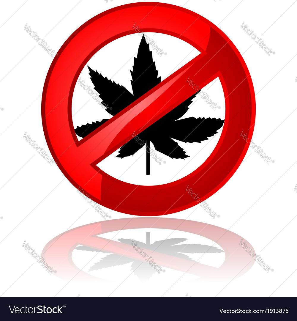 No cannabis vector image