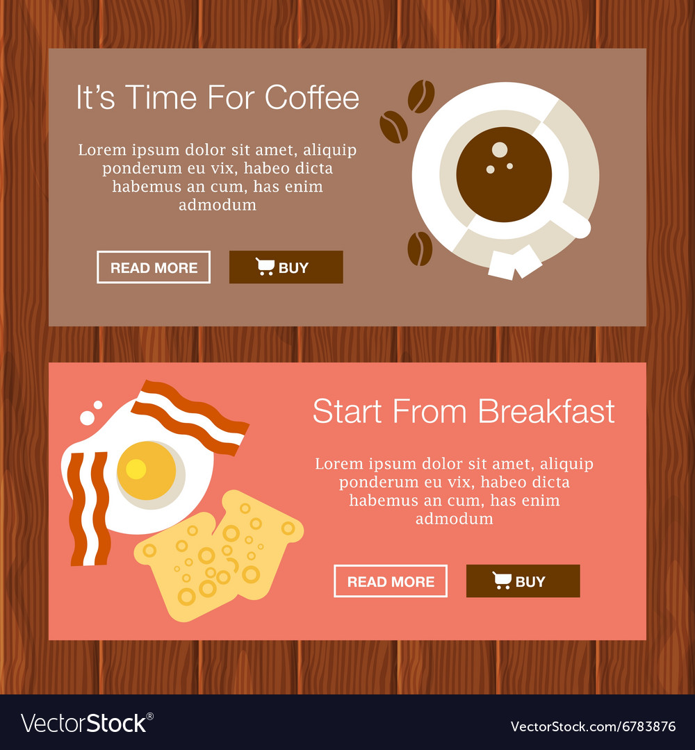 Coffee Breakfast Banners vector image