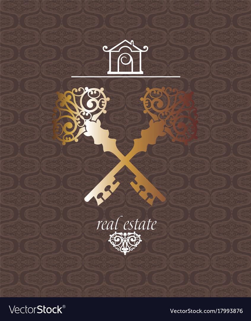 Real estate logotype vector image