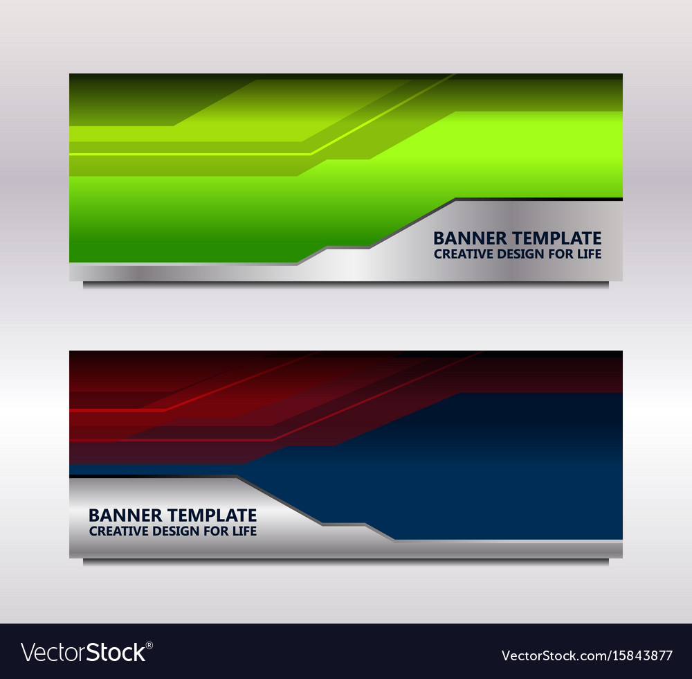 Modern web banner vector image