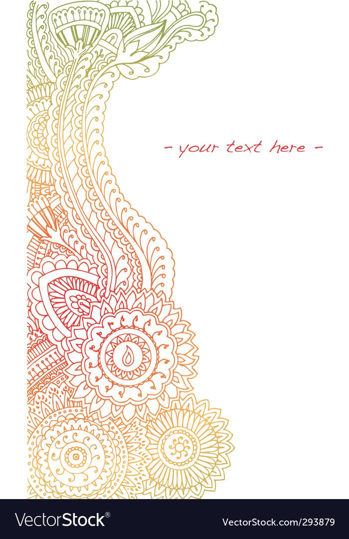 Summer henna vector image