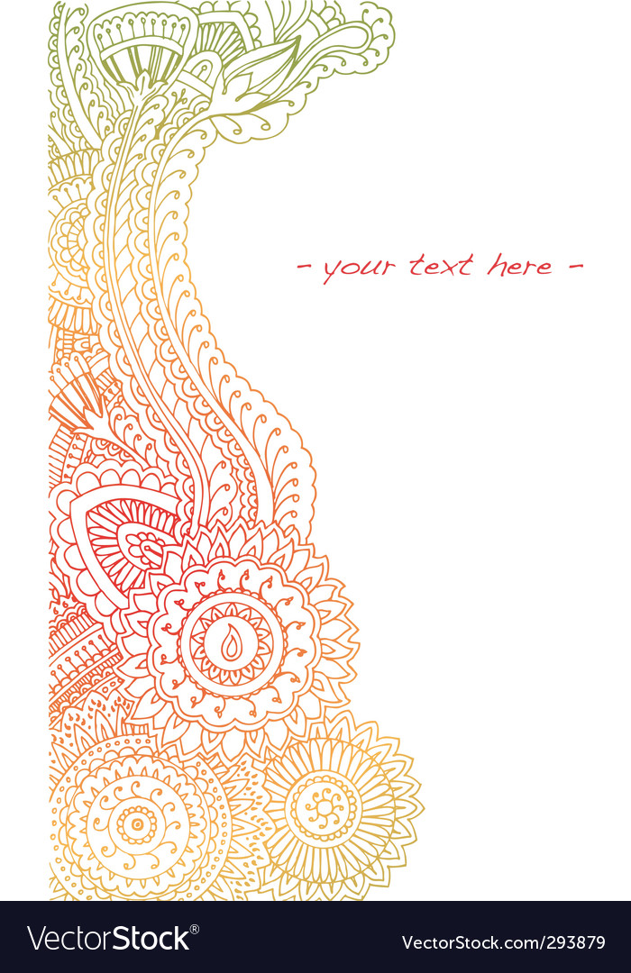 Summer henna vector image