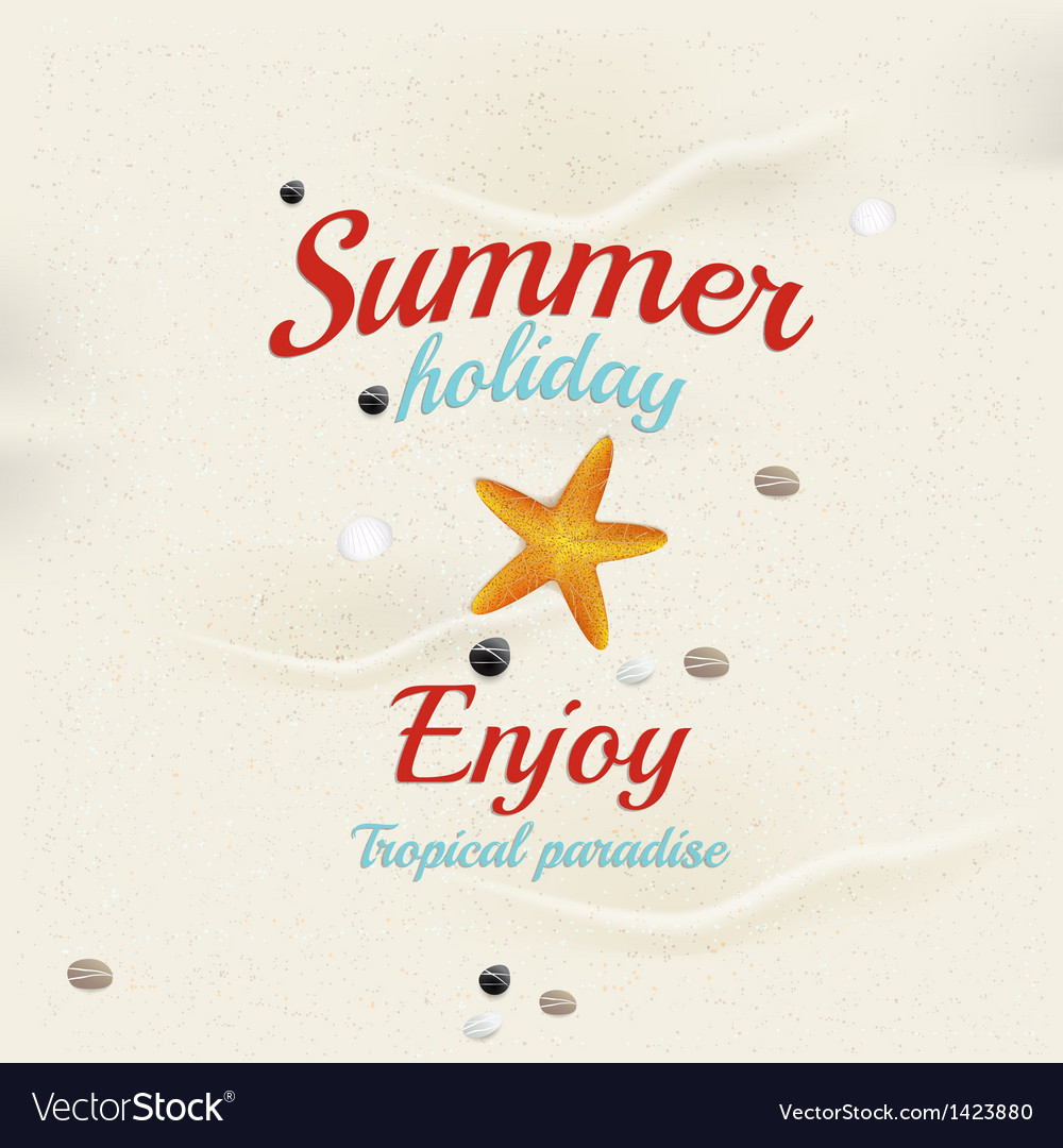 Summer sand background 2 vector image