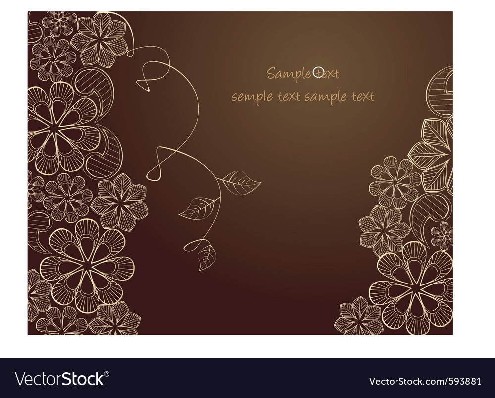 Lace drawing vector image