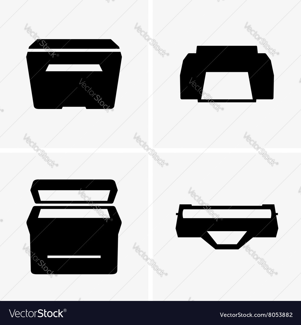 Printers and cartridge vector image