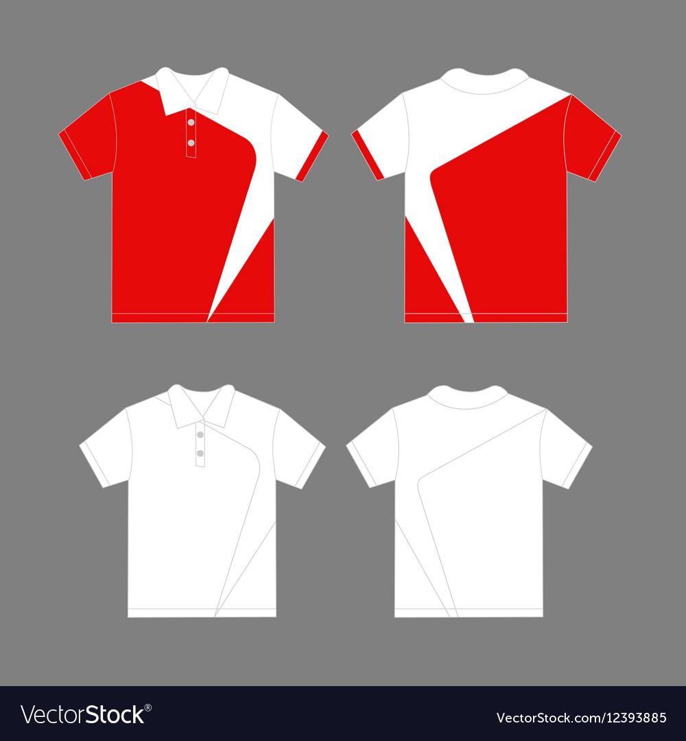 Modern polo shirt design vector image