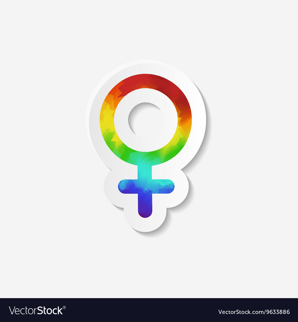 Gender identity icon Female Venus symbol vector image