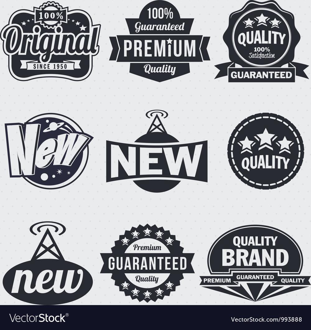 Retro vintage labels Vector Image