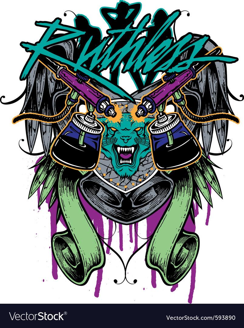 Tshirt graphic tattoo vector image