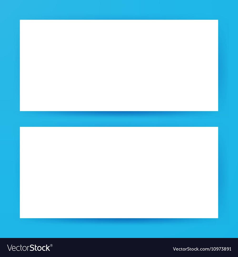 Two Horizontal Blank Banners Mockup vector image