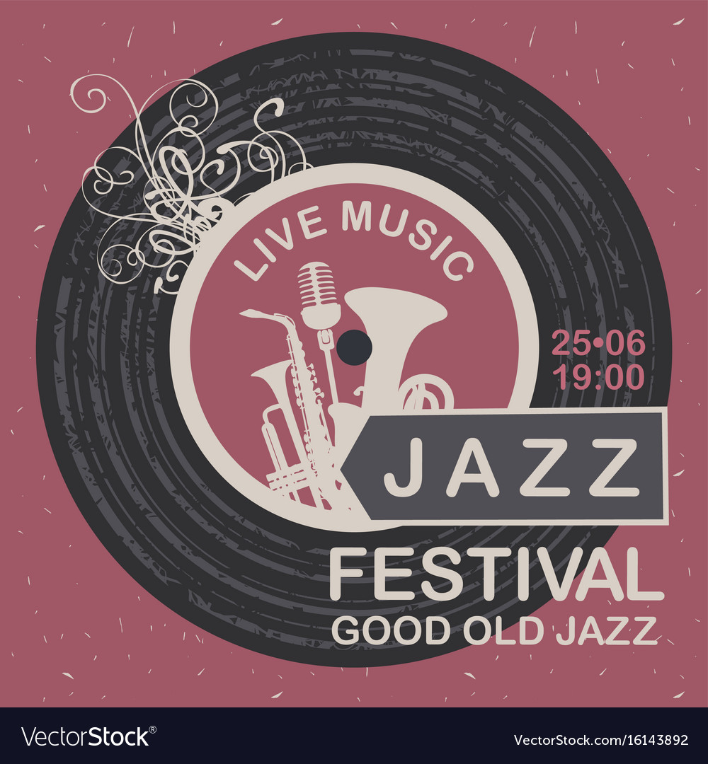 Banner for festival good old jazz vector image