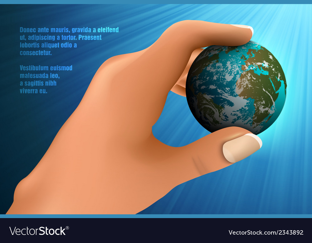 Blue Planet Earth vector image