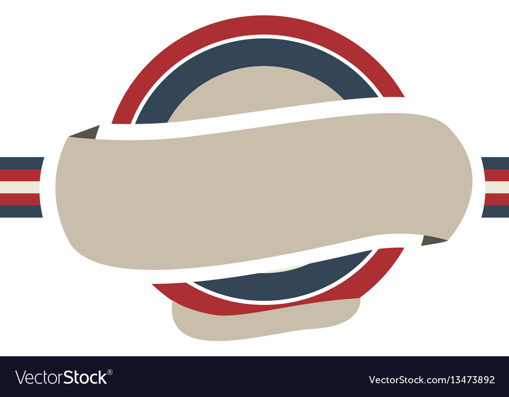 Circular frame with color flag united kingdom and vector image