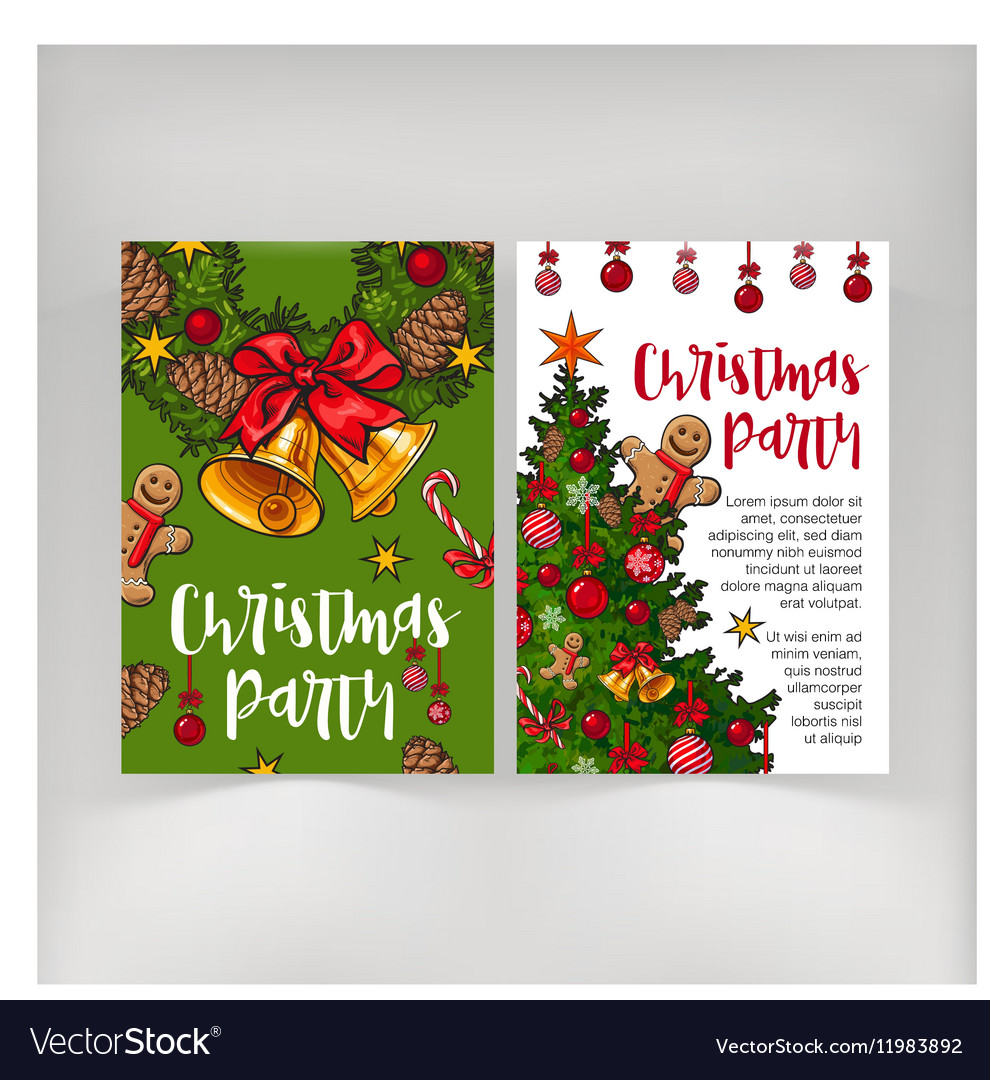 Party invitation greeting card poster banner vector image