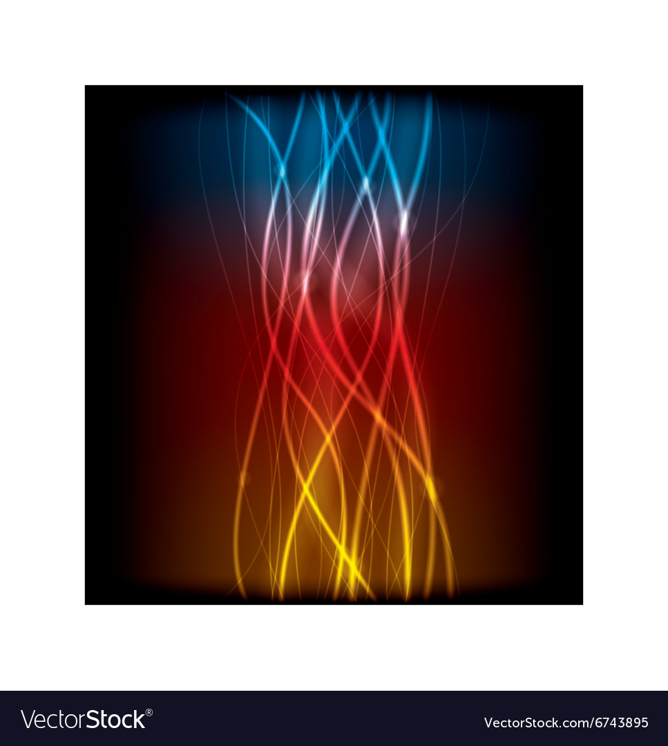 Abstract lines design on background vector image