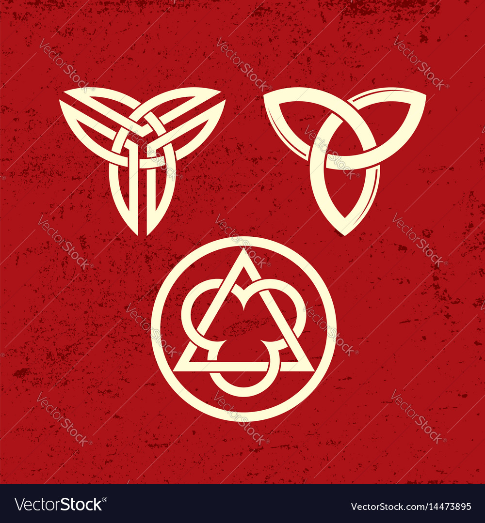 Ancient christian symbols of the trinity vector image biocorpaavc Image collections
