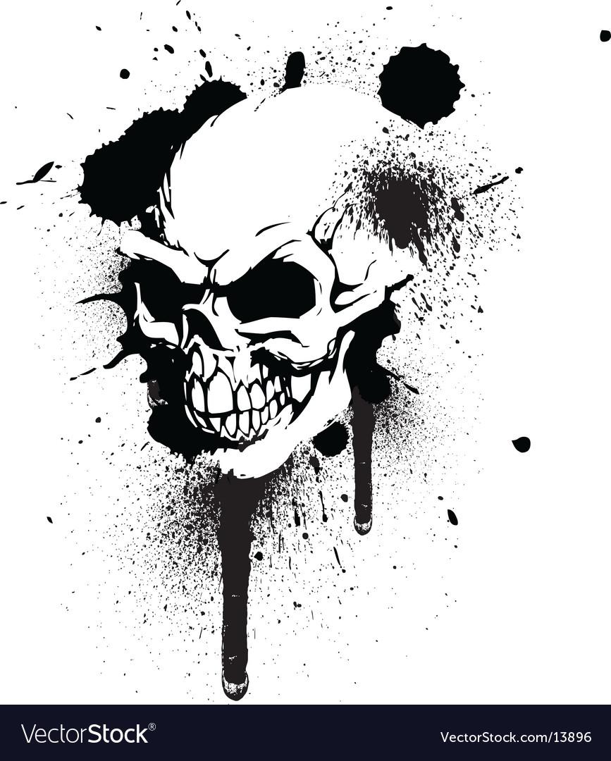Graffiti skull vector image