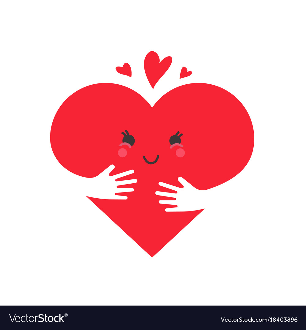 Heart in love concept cute heart character vector image buycottarizona Images