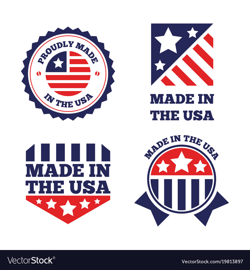 Set of made in the usa labels and badges on vector image set of made in the usa labels and badges on vector image buycottarizona