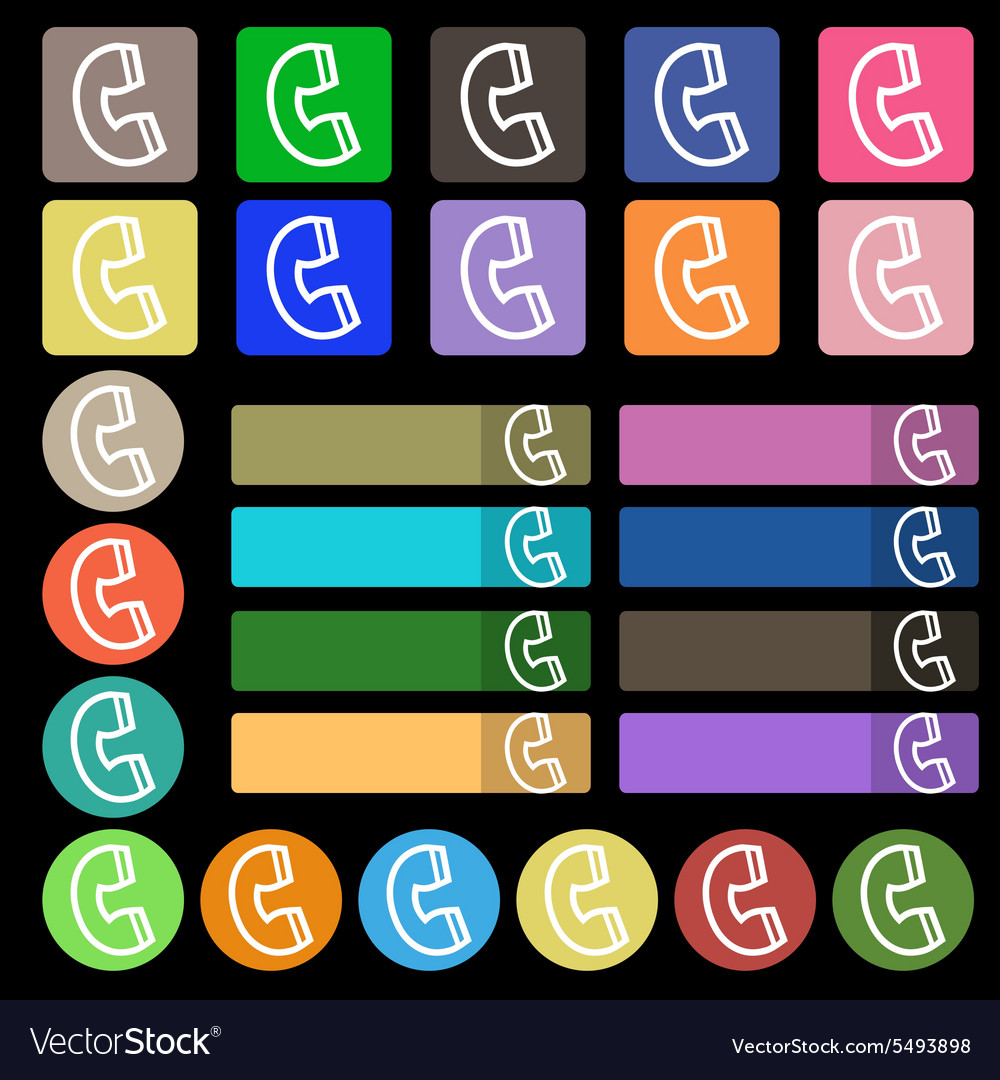 Handset icon sign Set from twenty seven vector image