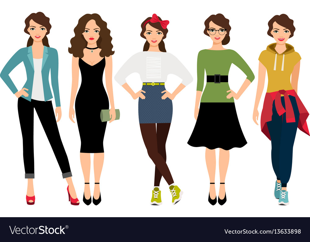 Women fashion styles vector image
