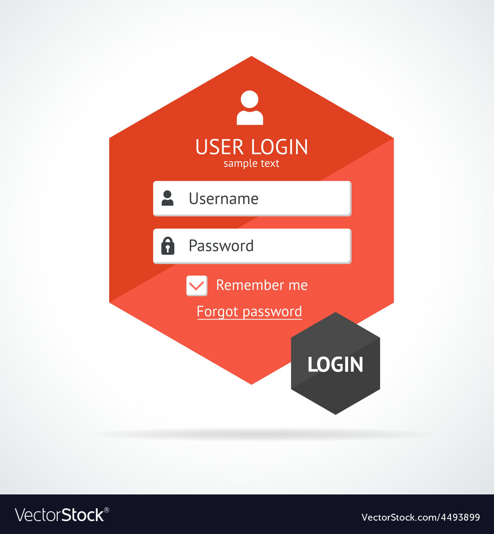 Login form page vector image