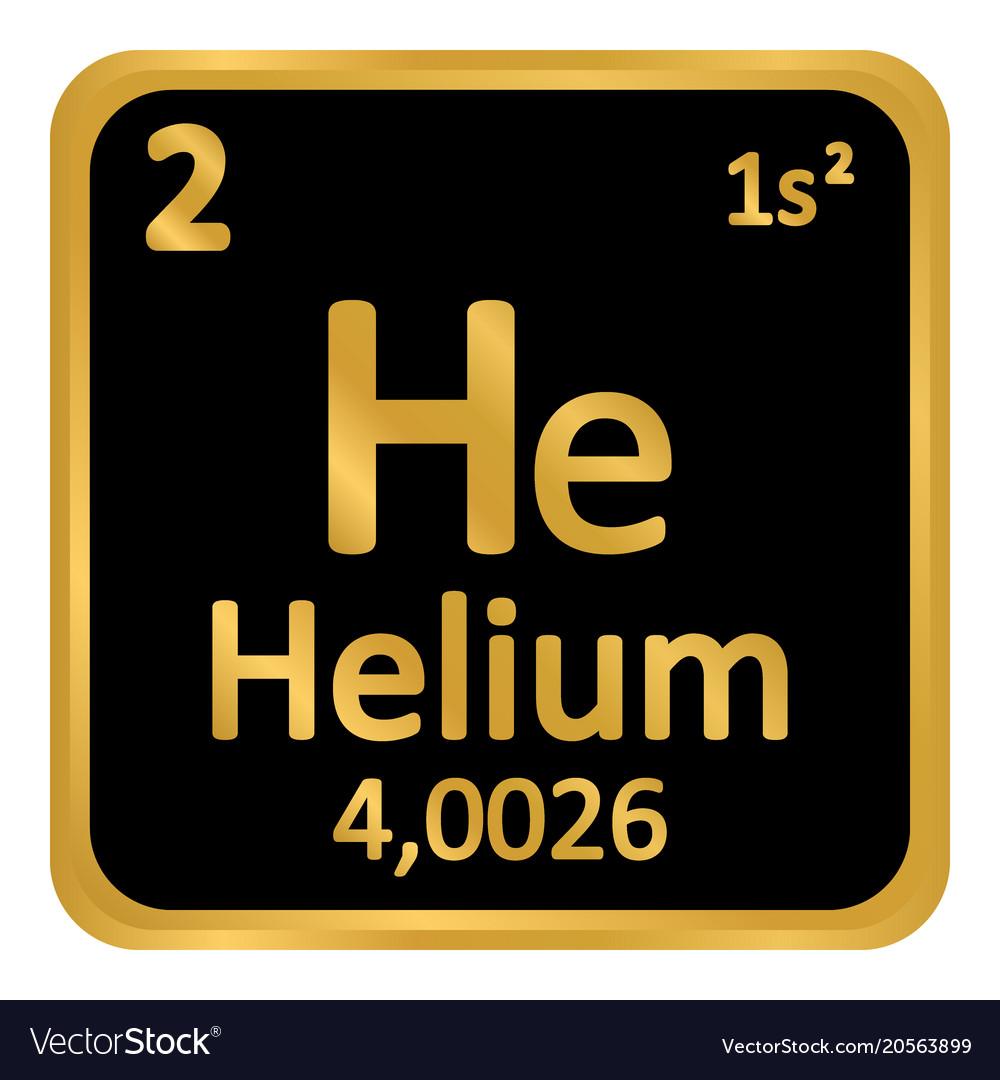 Periodic table element helium icon royalty free vector image periodic table element helium icon vector image urtaz Images