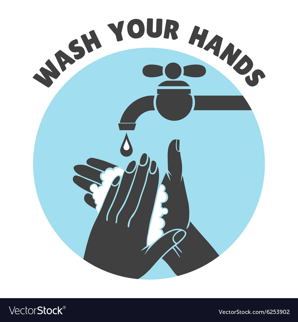 Wash your hands or safe hand washing symbol vector image buycottarizona Image collections