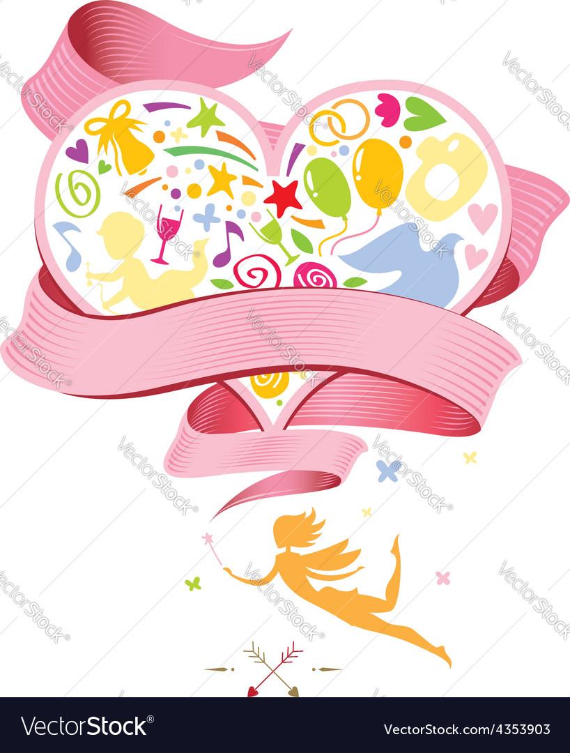 For wedding card vector image