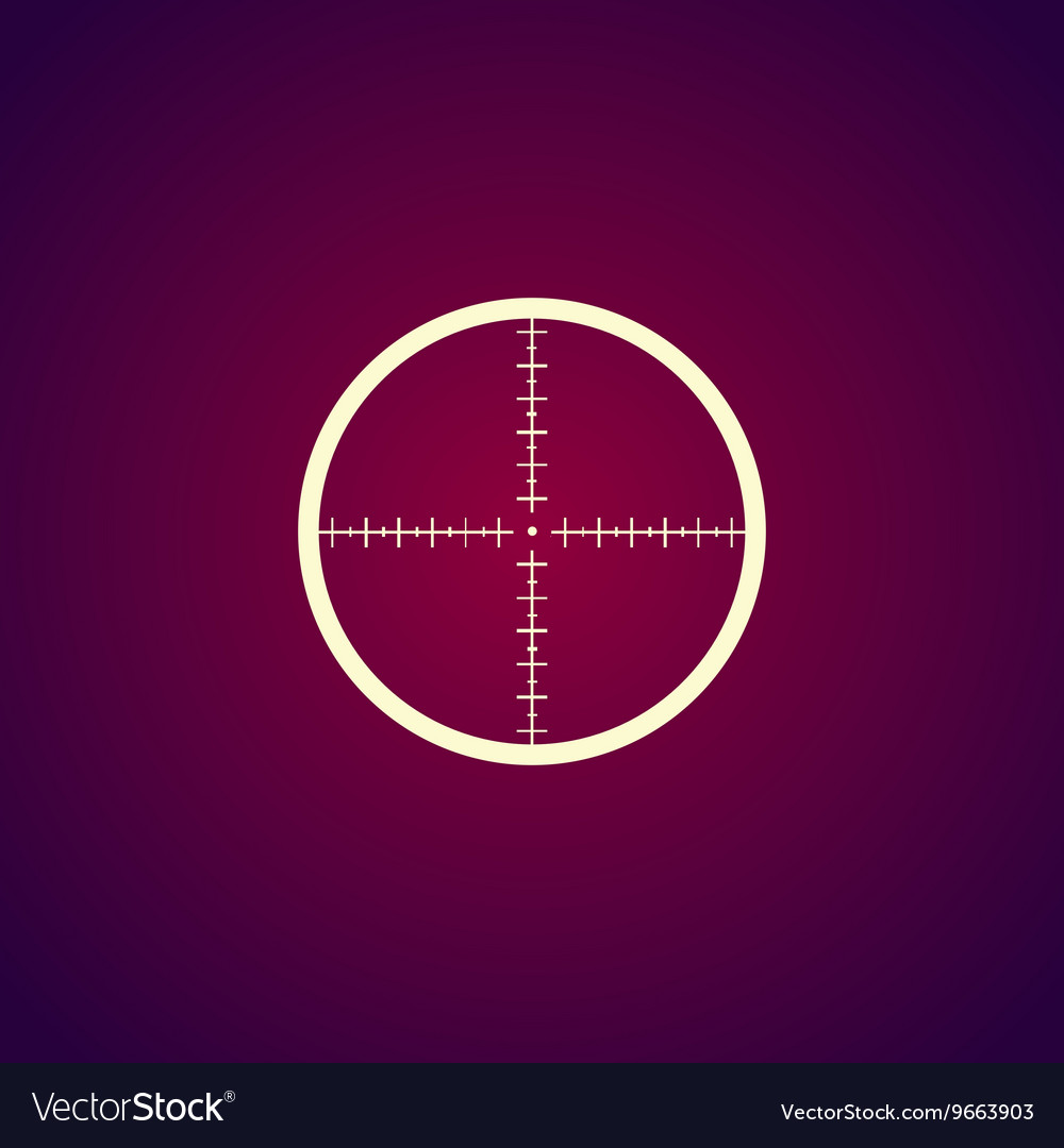Sight device icon vector image