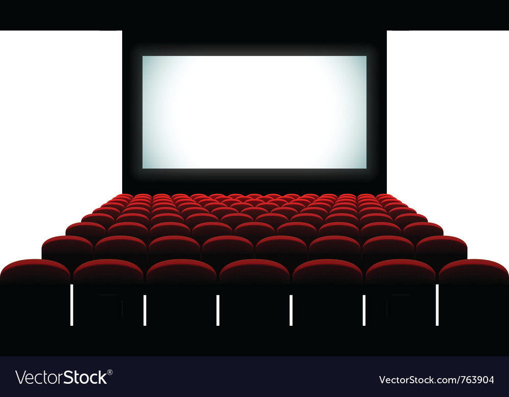 Cinema auditorium vector image