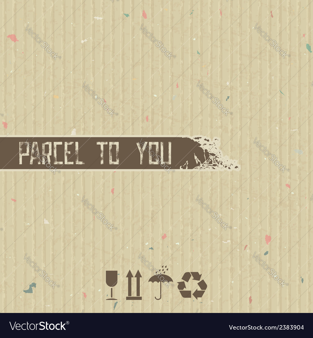 Parcel to you - abstract background vector image