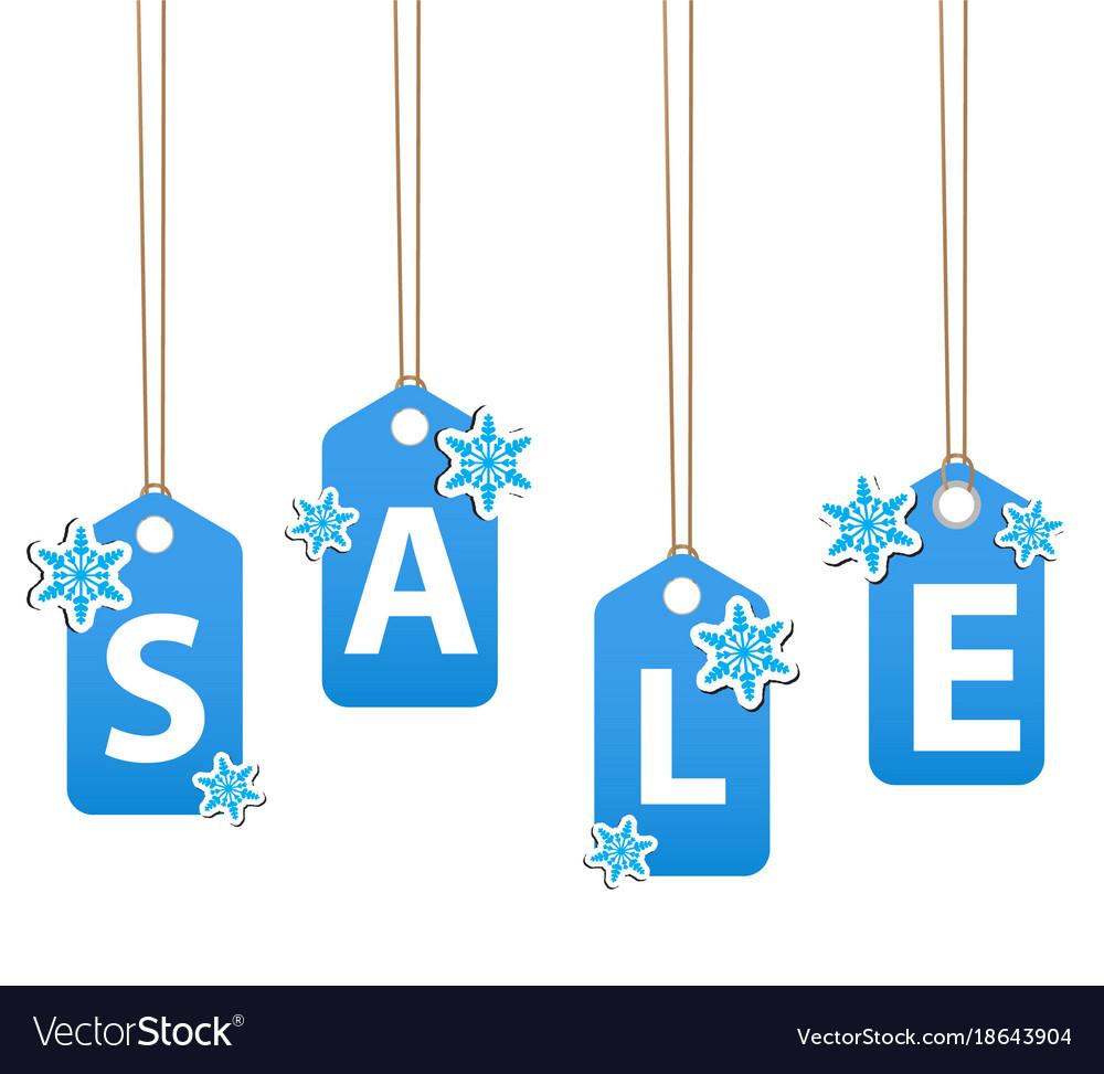 Winter sale poster christmas sale invitation vector image